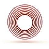 Красные круги стрелки Стоковая Фотография RF