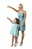 Μητέρα με την κόρη Στοκ Φωτογραφίες