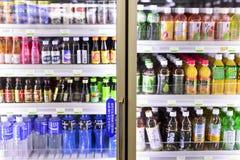 被分类的变冷的饮料 免版税图库摄影