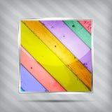 五颜六色的木模式图标 免版税库存照片