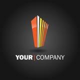 家庭徽标设计 免版税图库摄影