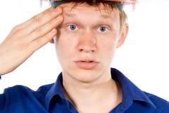 Ο υπάλληλος που κουράζεται Στοκ εικόνα με δικαίωμα ελεύθερης χρήσης