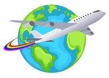 Логос перемещения мира Стоковые Изображения