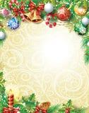 葡萄酒圣诞节背景 免版税库存图片