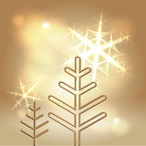 Предпосылка счастливых праздников праздничная золотистая Стоковая Фотография
