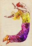 街道舞蹈演员 免版税库存照片
