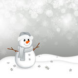 小的雪人 库存图片