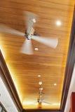 Обшитые панелями вентиляторы потолка Стоковые Фото