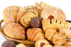 Τρόφιμα αρτοποιείων που τίθενται Στοκ Εικόνες