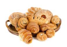 Τρόφιμα αρτοποιείων που τίθενται Στοκ εικόνες με δικαίωμα ελεύθερης χρήσης