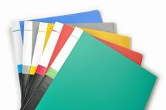 文件夹的颜色 库存图片