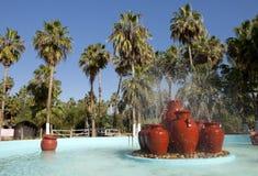 热带喷泉 免版税库存照片