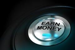 Заработайте или заработайте деньги Стоковые Изображения