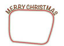 Коробка текста с Рождеством Христовым Стоковое фото RF