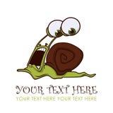 连续蜗牛字符。 免版税库存照片