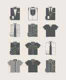 Мужская одежда. Комплект иконы. Стоковая Фотография
