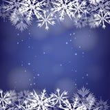 蓝色冬天背景 免版税库存照片