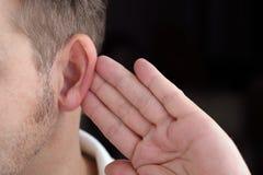Άκουσμα Στοκ Φωτογραφία