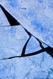 残破的冰 免版税库存图片