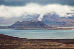 Остров озера пирамидк Стоковая Фотография