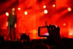 Στιγμιότυπο συναυλίας Στοκ φωτογραφία με δικαίωμα ελεύθερης χρήσης