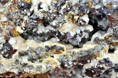 方解石,方铅矿,闪锌矿 免版税库存图片