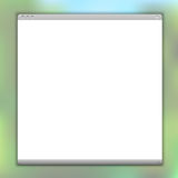简单的向量浏览器窗口 库存照片