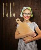 妇女厨师 免版税图库摄影