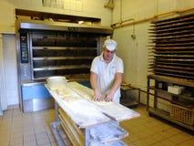 意大利面包师 库存照片
