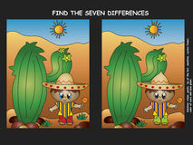 Найдите разница Стоковая Фотография