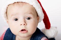 小的逗人喜爱的圣诞老人纵向 免版税库存照片
