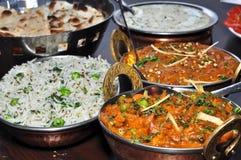 Индийская вегетарианская еда Стоковое фото RF