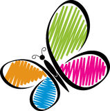 Логос бабочки Стоковое Изображение
