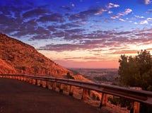 俯视风景日出 库存图片