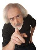 Άτομο που πατά με το δάχτυλο Στοκ εικόνες με δικαίωμα ελεύθερης χρήσης
