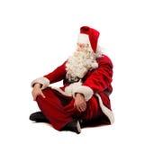 放松的圣诞老人 免版税库存照片