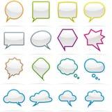 Комплект иконы пузыря речи Стоковая Фотография RF