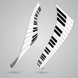 钢琴关键字 图库摄影