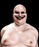 肥胖可怕的小丑 免版税库存图片