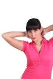 在她的脖子之后的现有量 免版税库存图片