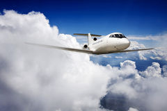Ιδιωτικό αεροπλάνο αεριωθούμενων αεροπλάνων Στοκ εικόνα με δικαίωμα ελεύθερης χρήσης