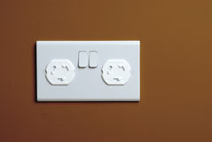 能防止孩童瞎摸弄的插件插口 库存照片