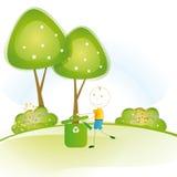 认为绿色 免版税库存照片