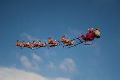 圣诞老人的雪橇 库存照片