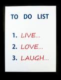 Сделать список Стоковое Изображение RF