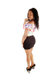 美丽的黑人女孩。 免版税库存图片