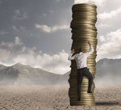 事业和志向在工作 免版税库存照片