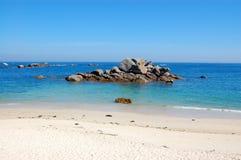 传奇海岸,不列塔尼,法国 免版税图库摄影