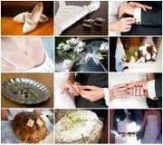 婚姻的和新娘详细资料 免版税库存图片