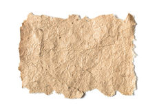 Старая бумага с грубыми краями Стоковые Фотографии RF